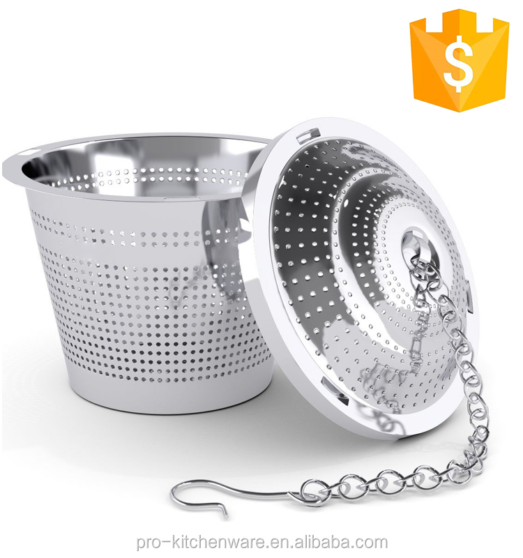 Loose Leaf Tea Infuser (Set of 2) with Tea Scoop and Drip Trays