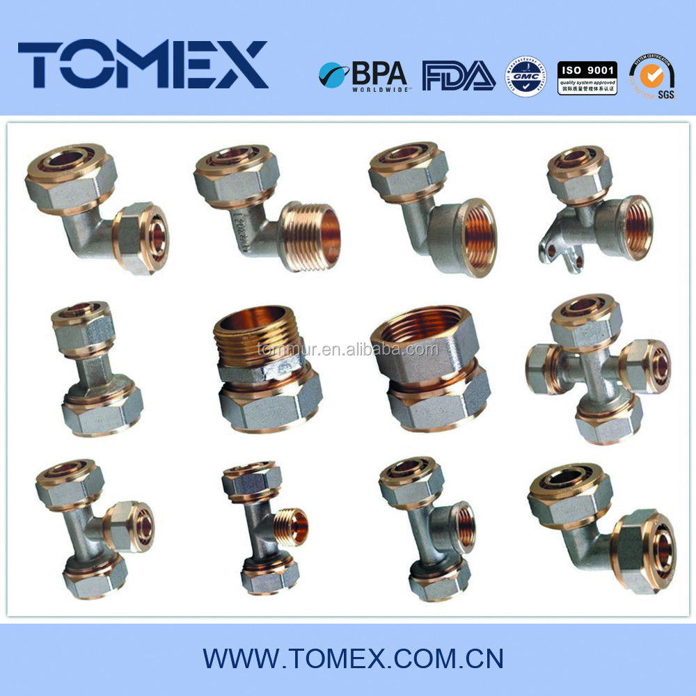 Pex pipe fitting brass pex fitting sanitary fitting buy for Come collegare pex pipe al rame