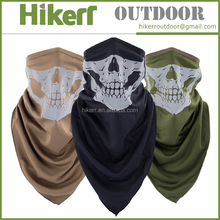 Skull heads half face masks reflective headgear windproof headband custom sport scarf bandana