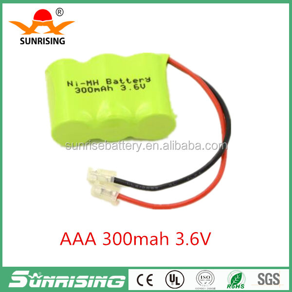 3.6v 300 mAh Ni-MH AAA Rechargeable battery Cordless phone battery