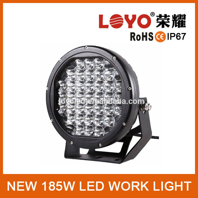 "9"" 185w led work light offroad driving light for truck"
