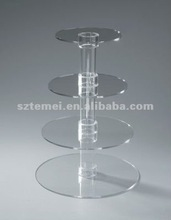 4 tier acrylic tube cake stand or lucite tube cake stand