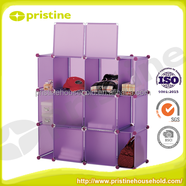 PP modern cube kids toy adjustable folding storage cube