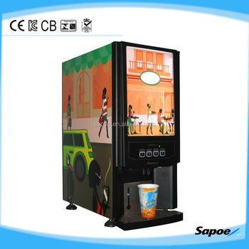 Espresso LED coffee machine with 3 flavors and hot drinks from Sapoe factory