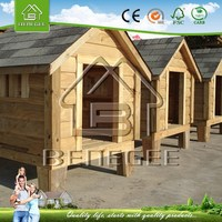 comfortable solid wooden dog house & dog kennel