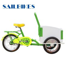 new designed pedaled cargo tricycle for kindergarten