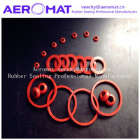 Fluoro viton FFKM rubber red rubber o ring and capacitor rubber stopper