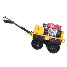 Walk behind double drum vibratory road roller machine