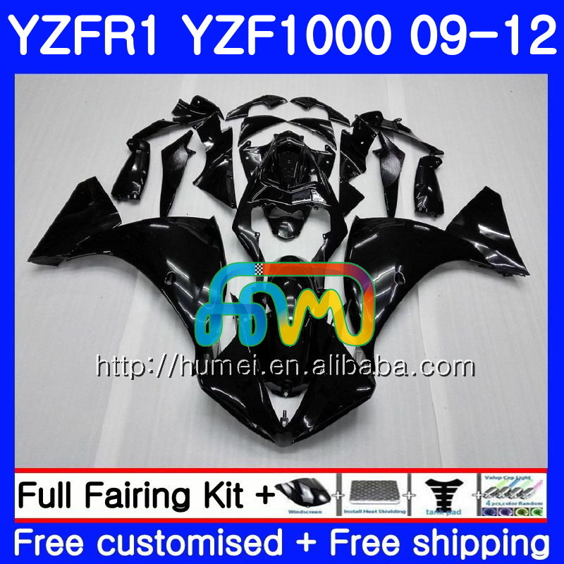 Body For YAMAHA Glossy black YZF-<strong>R1</strong> YZF-1000 YZF <strong>R1</strong> <strong>09</strong> 10 11 12 104HM1 YZF1000 R 1 YZF 1000 YZFR1 2009 2010 2011 2012 Fairing