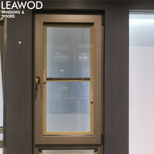 LN68 Tempered Glass Aluminium Casement Window