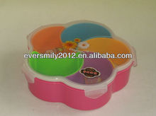New style durable good price round plastic candy box with lid
