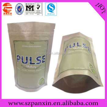 Recyclable customized paper bag with round bottom