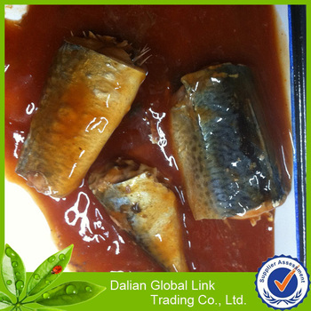 Canned food mackerel fish private brand