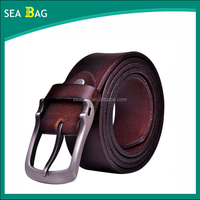 leather belt For Man Pin Buckle Belt made in China factory
