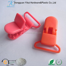 Dongguan YiKai colorful plastic teeth clip,plastic belt clip,Length 40mm plastic golf ball clip