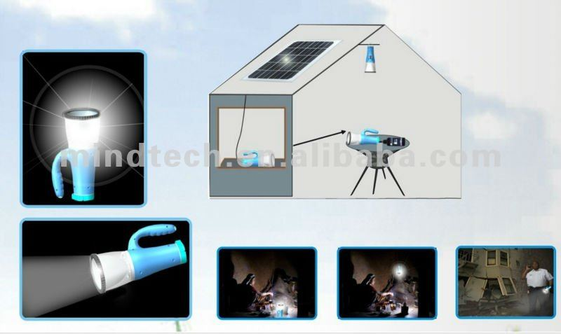 solar camping light with USB Charger