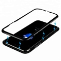 360 Degree Protective Phone Case Magnetic Aluminum Metal Bumper Tempered Glass For iPhone 8 8 Plus Cover