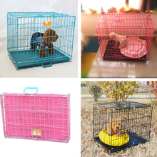 Mesh Box Wire Cage Metal Pet Cage Foldable Dog Kennels Pet Crate