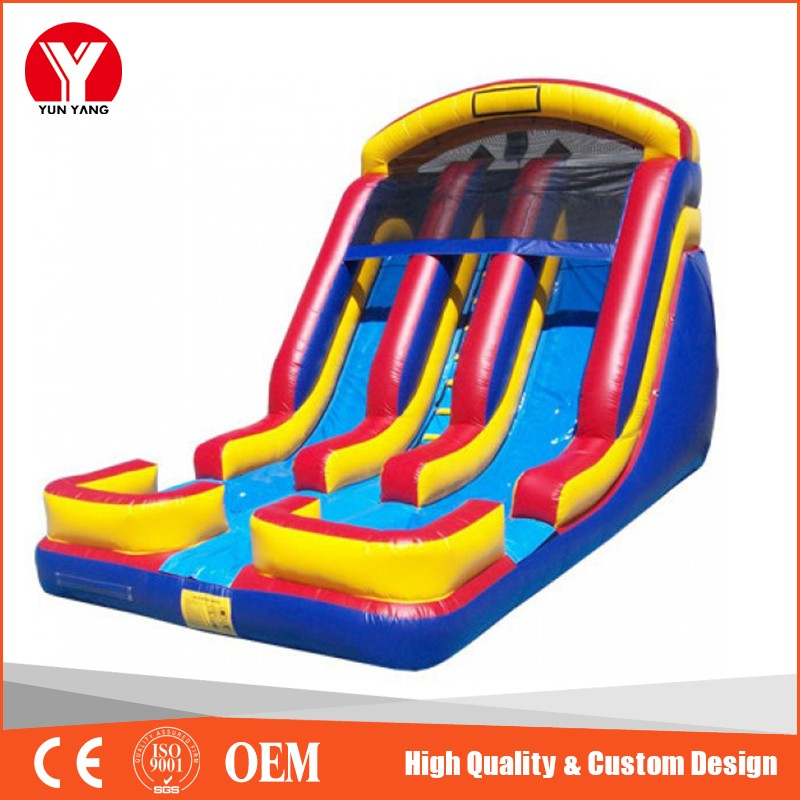2016 Big cheap PVC inflatable slip and slides for sale