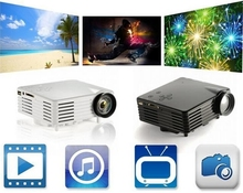 The Cheapest Wholesale Mini LED Digital Projector GP07S Full HD 3D LED Projector with 20k LED Lamp Life