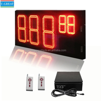 10 inch 7 Segment LED Display Gas Station Equipment
