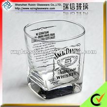 2012 Latest Promotional Lead Free Square Branded Whisky Glass Cup