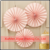 NEW Paper Rosettes Fans Pretty Pink backdrop paper flower decoration