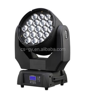 high quality 19X15W RGBW 4 in 1 Bee eye LED zoom beam wash moving head stage dj light