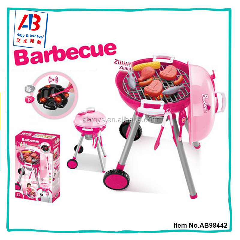 Pretend Toys Plastic Bbq Set For Kids