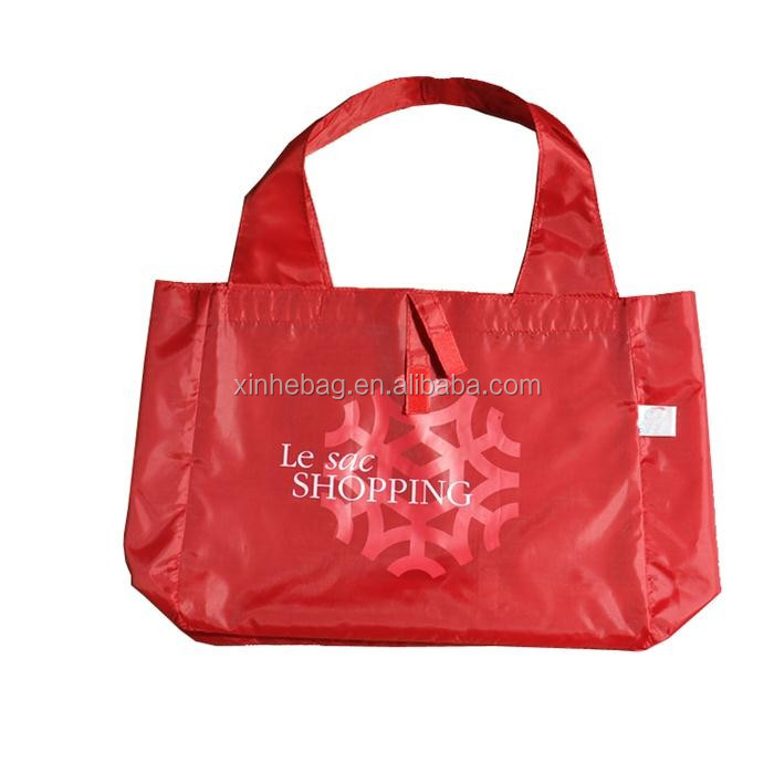 foldable waterproof vest 190T polyester shopping bag for promotion