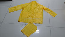 Cheap Yellow Polyester PVC Raincoat