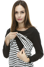 Maternity clothes Long Sleeves Breastfeeding and Nursing Top