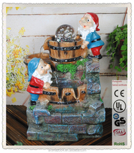 rolling ball tabletop gnome indoor water fountain