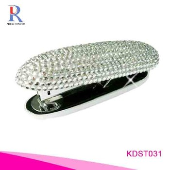 Promotional Mini Stapler metal rhinestone crystal Stapler