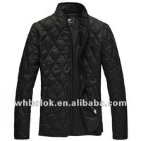 Elegant mens fashion design quilted casual jacket black blazer