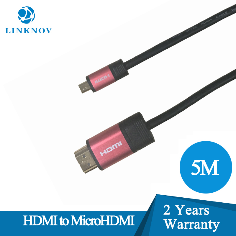 Red Thin Flat Flexiable 5M Male to Male HDMI 4K Cable