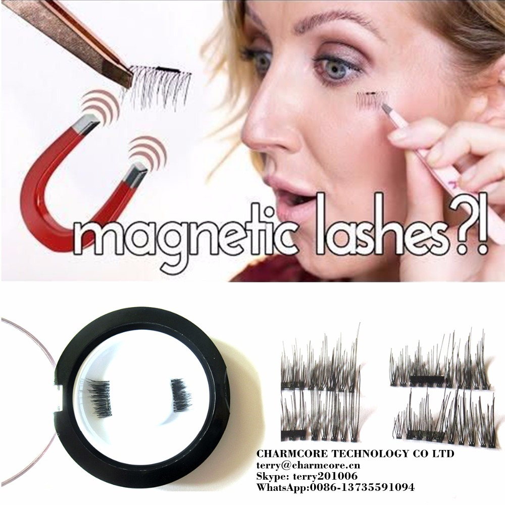 Magnet eyelashes 100% Handmade Magnetic lashes Cross Thick False Eye Lashes Extension Makeup Super Natural Long Fake Eyelashes
