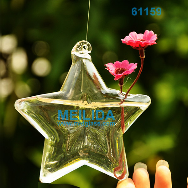 Star shaped wholesale glass vases hanging