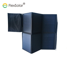 fabric foldable 60w solar powered battery trickle charger for car ebike scooter
