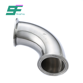wholesale durable stainless steel pipe fittings sanitary elbow