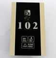 Tempered Glass Gold Brushed Aluminum Frame Hotel Room DND MUR Doorbell Plate