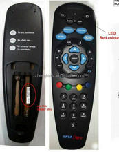 Black 36 Buttons TATA SKY Remote Control with Lens AAA* Battery for India market Cheapest Price with High Quality ZF Factory