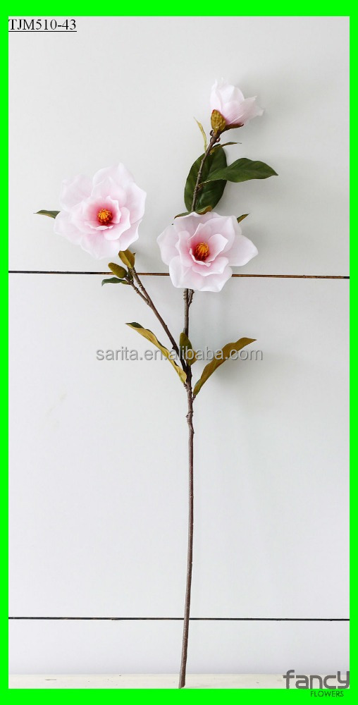 37inches height real touch 3 heads magnolia grandiflora giant artificial flower