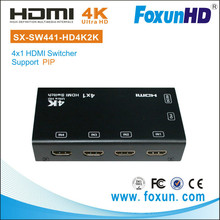 FOXUN SX-SW441-HD4K2K Picture In Picture HDMI Switcher 4 In 1 Out 4K HDMI switch