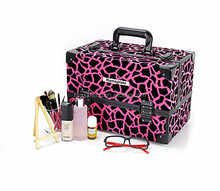 Promotional vanity pvc cosmetic beauty makeup train case