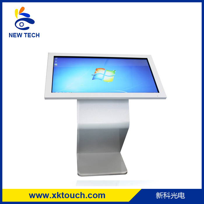 OEM 32 inch interactive supermarket stand ad kiosk, tablet pc