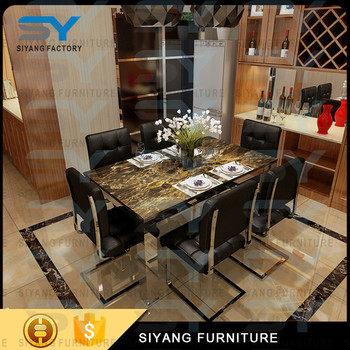 Furniture from china with prices dining room table modern dining table for home CT031