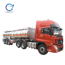 Suizhou Changjie Automobile High quality capacity 42000L 3 axle fuel tank semi trailer for sale Aluminum alloy 5083 tankmaterial