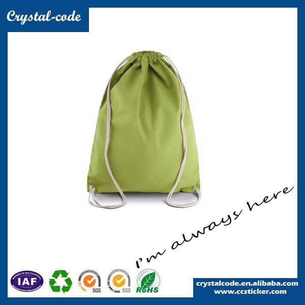Colorful Fashion Style Wholesale Cotton Fabric Shopping Drawstring Bag