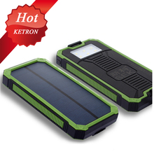 solar car battery charger 20000mah with camping lamp waterproof
